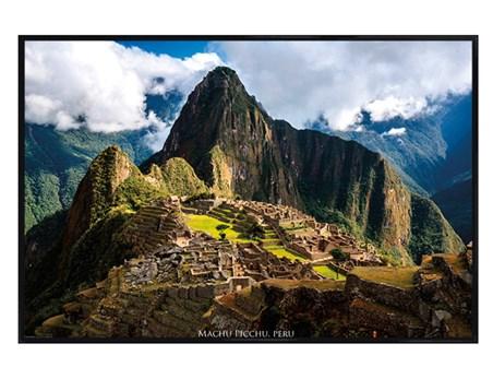 Gloss Black Framed Machu Picchu - Peru