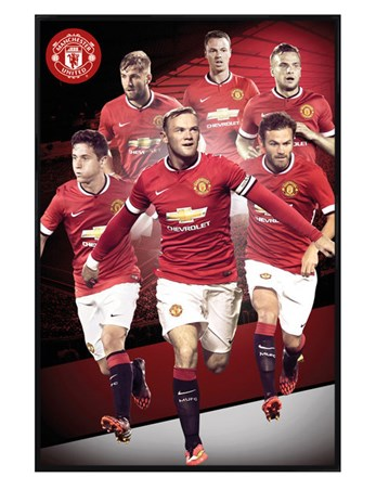 Gloss Black Framed Manchester United Star Players 2014/15 - Manchester United Football Club