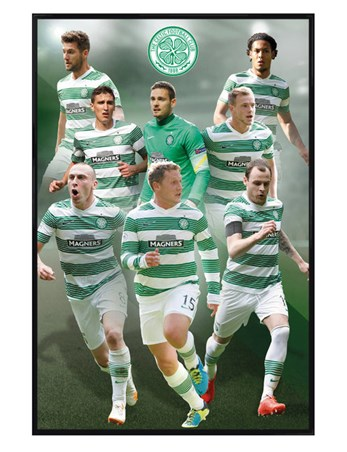 Gloss Black Framed Star Players - Celtic Football Club 2014/15