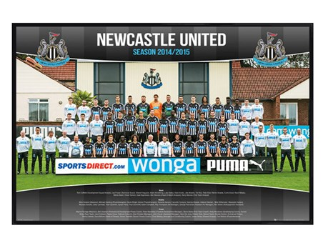 Gloss Black Framed Team Photo, Newcastle United Football Club 2014/15