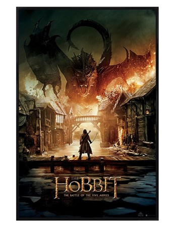Gloss Black Framed The Battle Of The Five Armies - The Hobbit