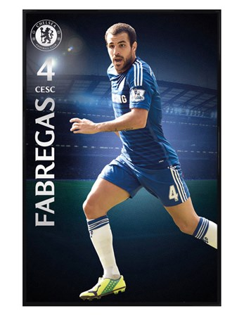 Gloss Black Framed Cesc Fabregas - Chelsea Football Club
