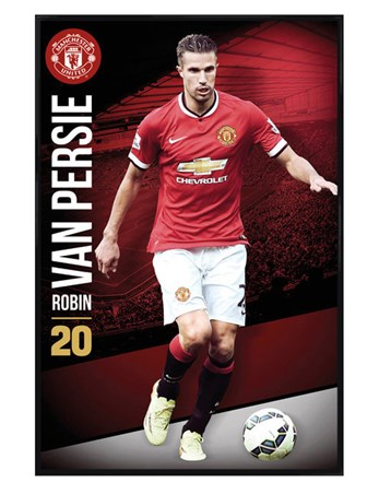 Gloss Black Framed Robin Van Persie - Manchester United Football Club