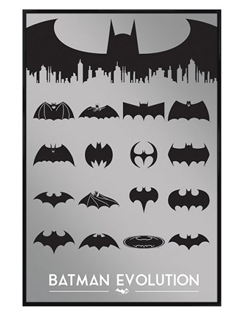 Gloss Black Framed Evolution - Batman