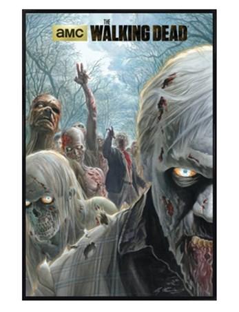 Gloss Black Framed Zombie Hordes - The Walking Dead