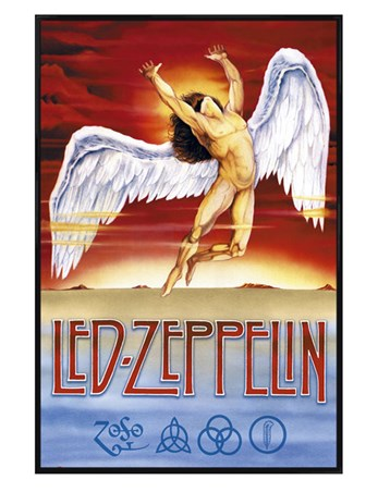 Gloss Black Framed Swan Song - Led Zeppelin