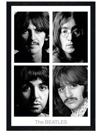 Black Wooden Framed The White Album Framed Poster