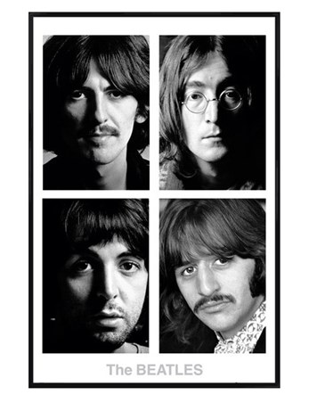 Gloss Black Framed The White Album - The Beatles