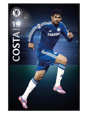Gloss Black Framed Diego Costa - Chelsea Football Club
