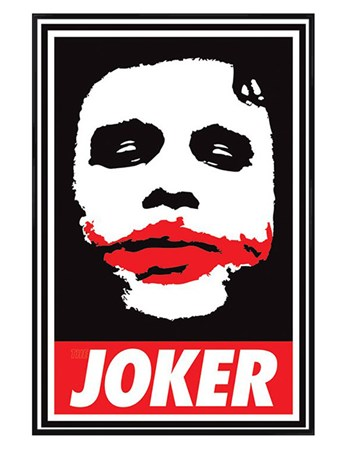 Gloss Black Framed Obey The Joker - Batman The Dark Knight