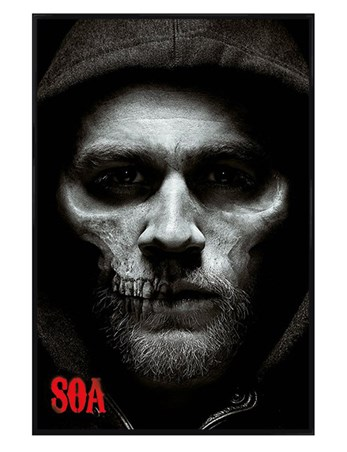 Framed Gloss Black Framed Jax Skull - Sons of Anarchy