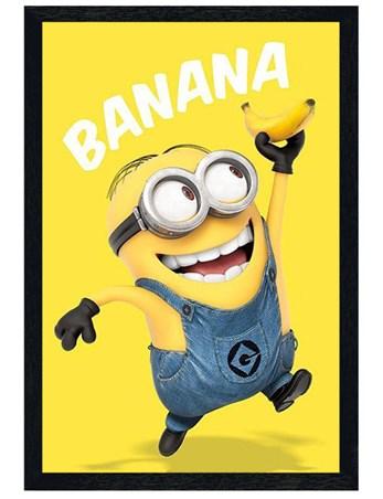 Framed Black Wooden Framed Banana! - Despicable Me