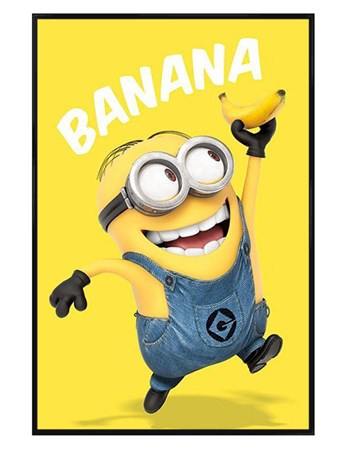 Gloss Black Framed Banana! - Despicable Me