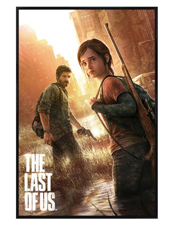 Gloss Black Framed The Last Of Us, Naughty Dog Poster