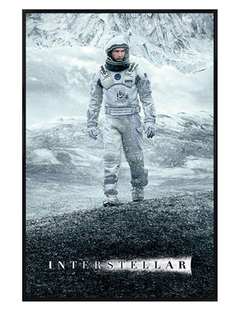 Gloss Black Framed The End Of The Earth Will Not Be The End Of Us - Interstellar