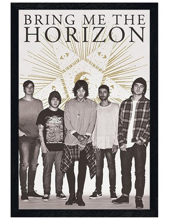 Black Wooden Framed Star - Bring Me The Horizon