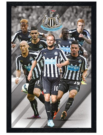 Black Wooden Framed Star Players - Newcastle United Football Club 2014/15