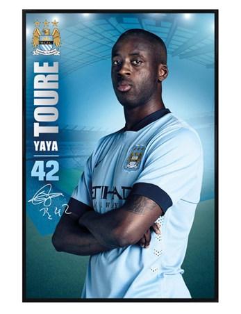 Gloss Black Framed Yaya Toure - Manchester City Football Club