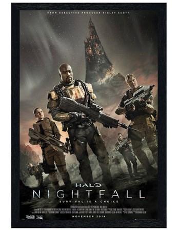 Black Wooden Framed Halo Nightfall Framed Poster