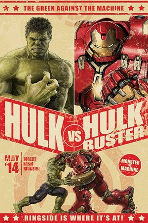 Framed Hulk Vs Hulkbuster - Avengers Age of Ultron