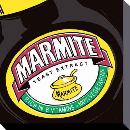Framed Marmite - Close-Up