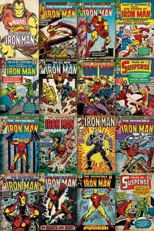 Iron Man Covers Montage - Marvel Comics