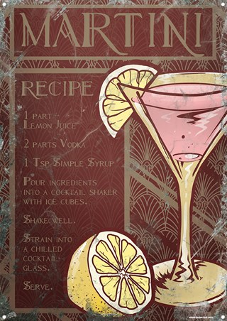 Framed Martini Cocktail Recipe - Shake Well