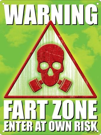 Framed Warning Fart Zone - Enter At Own Risk