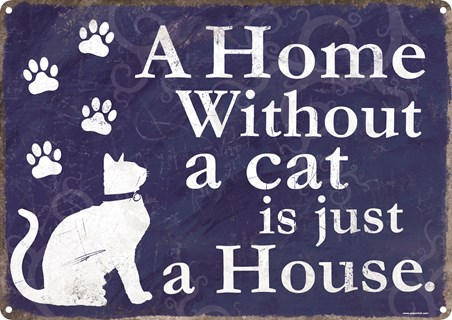 Framed A Home Without A Cat - Is Just A House