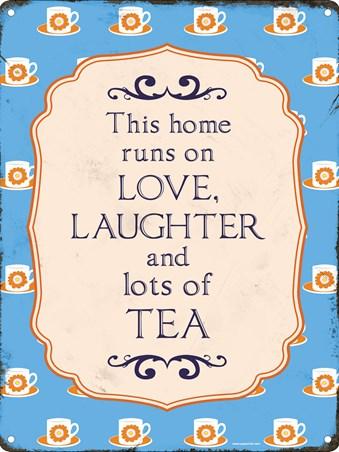 Framed This Home Runs On - Tea