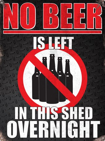 Framed A Beer Free Zone - Shed Etiquette