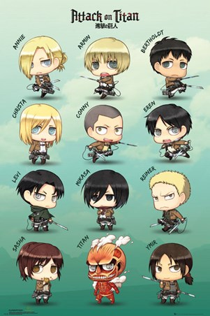Chibi Characters - Attack On Titan