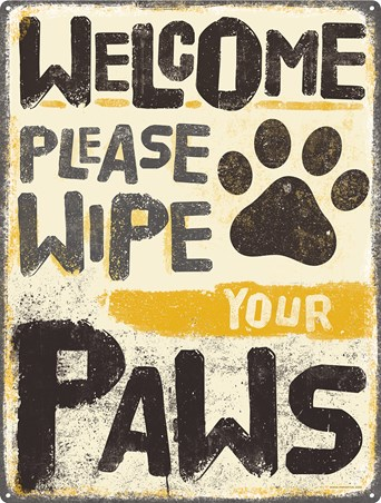 Please Wipe Your Paws, Pet Etiquette
