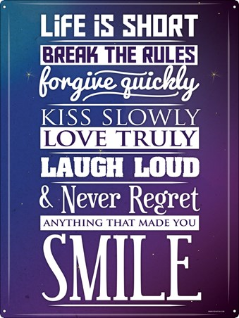 No Regrets - Keep on Smiling