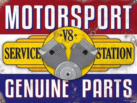Framed Service Station - Motorsport