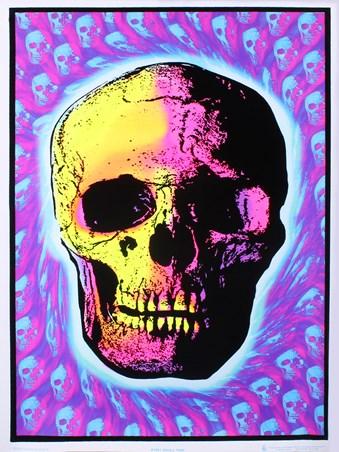 Psychedelic Skull - Skull Trip Blacklight Poster
