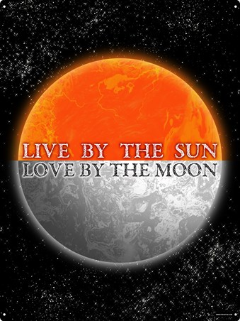 Framed Live By The Sun - Love By The Moon