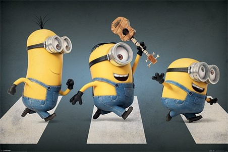 Minions Abbey Road - Stuart, Kevin and Bob