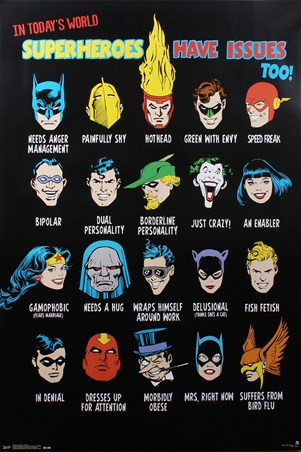 Superheroes Have Issues Too - DC Comics