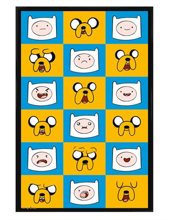 Gloss Black Framed Adventure Time Expressions -