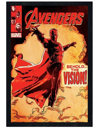 Black Wooden Framed Behold The Vision - Marvel's Avengers