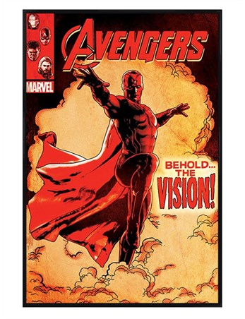 Gloss Black Framed Behold The Vision - Marvel's Avengers