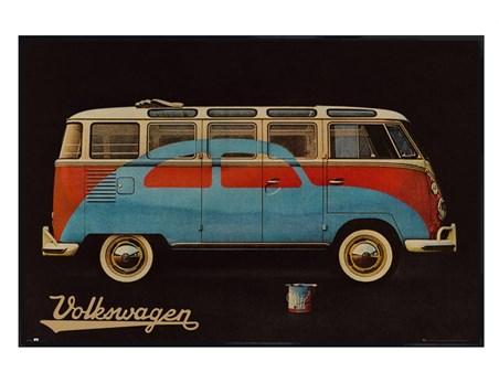 Gloss Black Framed Camper - Volkswagen