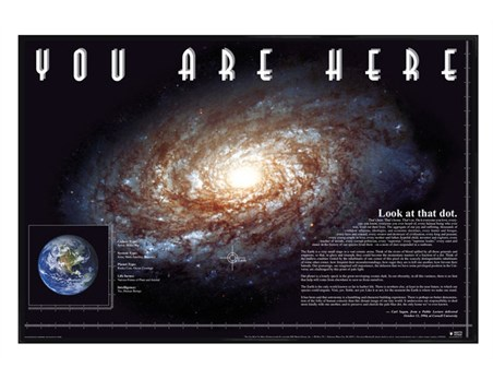 Framed Gloss Black Framed You Are Here - Space