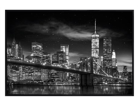 Gloss Black Framed Freedom Tower New York - One World Trade Centre