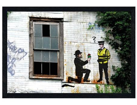 Black Wooden Framed Gangster Proposal - Police