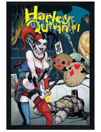 Black Wooden Framed Harley Quinn Forever Evil - DC Comics