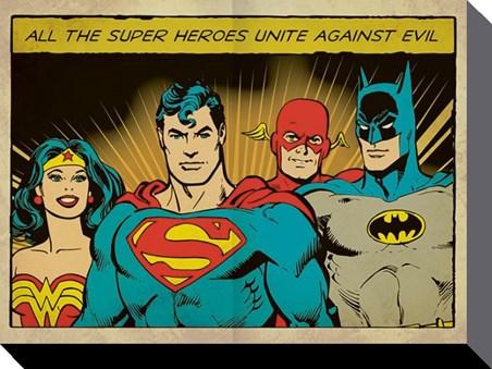 Framed Superheroes Unite! - DC Comics