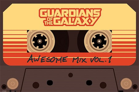 Framed Awesome Mix Vol 1 - Guardians Of The Galaxy