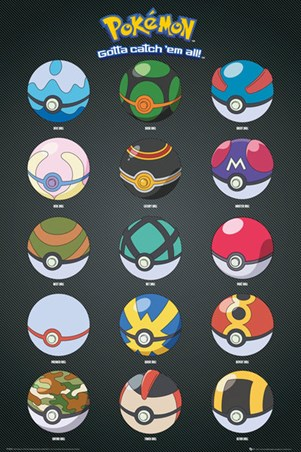 Framed Pokeballs - Pokemon